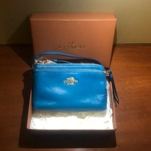 Never used with box and tags coach wristlet
